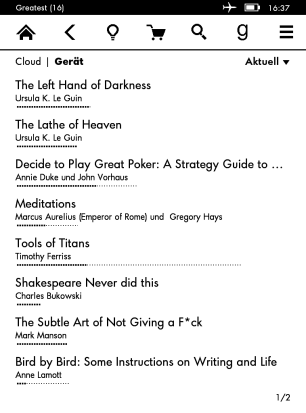 My Kindle page 1